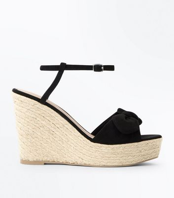 New Look Suedette Bow Wedge YsYDk5iG