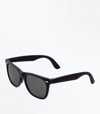 Black Smoke Tinted Square Sunglasses