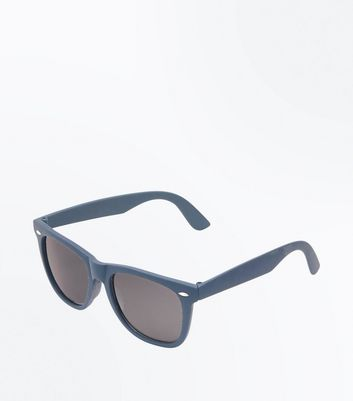 Bright Blue Smoke Tinted Square Sunglasses