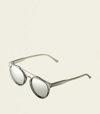 Clear Frame Bar Front Sunglasses