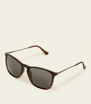 Brown Tortoiseshell Print Sunglasses