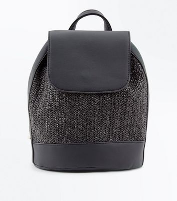 Black Woven Backpack