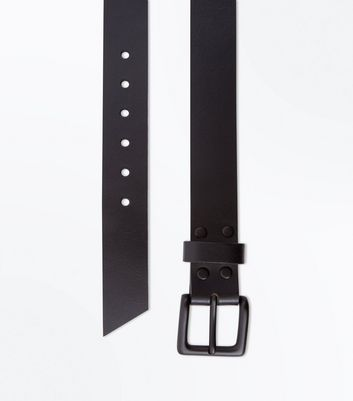 Black Stud Leather Belt