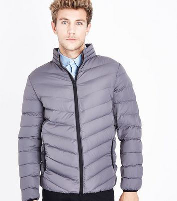 Grey Light Weight Puffer Jacket