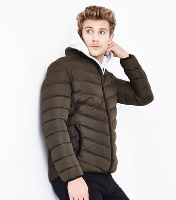 Khaki Light Weight Puffer Jacket