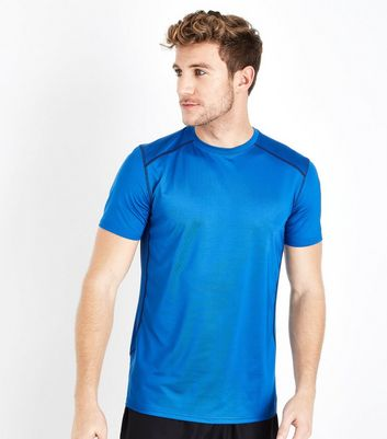 Bright Blue Stretch Sports T-Shirt