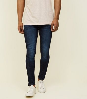 Navy Twist Seam Stretch Skinny Jeans