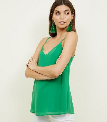 Tall Green Strappy Back Cami