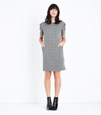 Cameo Rose Grey Prince of Wales Check Tunic Dress