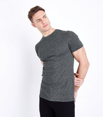 Muscle Fit - T-shirt gris clair chiné