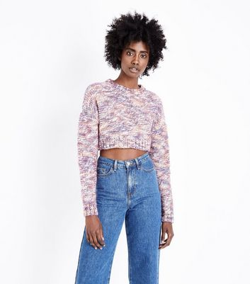 Multi Coloured Cropped Jumper