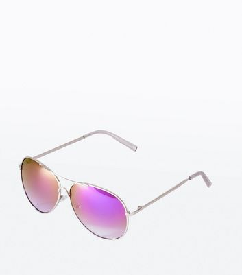 Purple Mirror Pilot Glasses