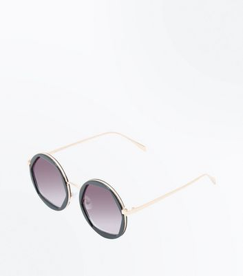 Black Ombre Octagon Lens Sunglasses