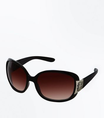 Black Ombre Embossed Edge Sunglasses