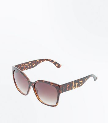 Dark Brown Tortoiseshell Oversized Sunglasses