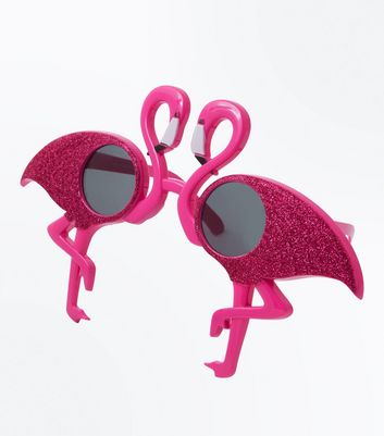 Bright Pink Flamingo Sunglasses
