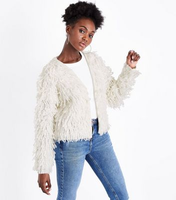 Cream Loop Stitch Cardigan