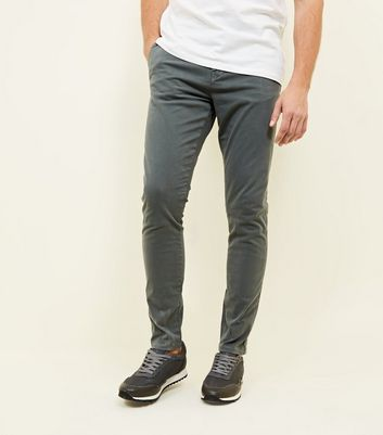 Khaki Skinny Stretch Chinos