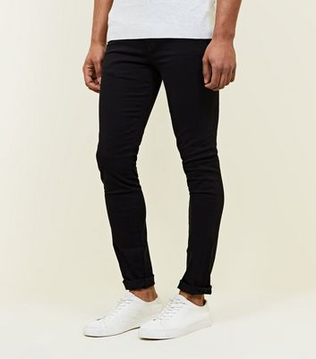 Black Super Skinny Stretch Chinos