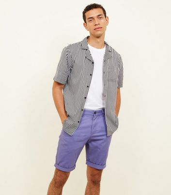 Dark Purple Chino Shorts