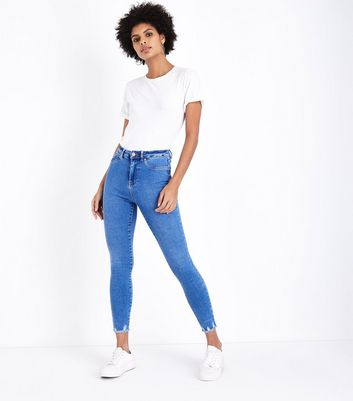Bright Blue High Waist Super Skinny Hallie Jeans
