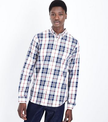Off White Check Long Sleeve Shirt