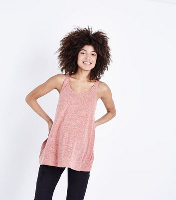 Maternity Deep Pink Marl Swing Vest Top