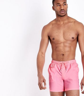 Shorts de bain rose néon