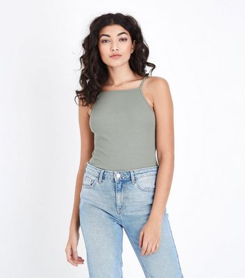 Olive Green Square Neck Cami