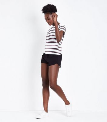 Black Jersey Runner Shorts