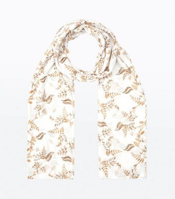 Mustard Yellow Floral Printed Scarf