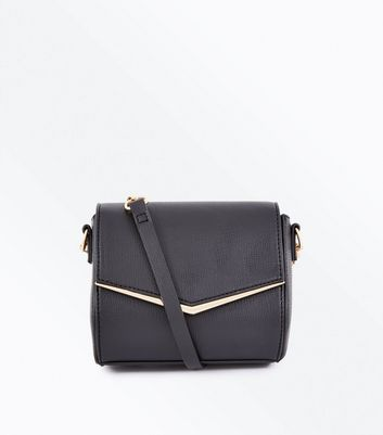 Black V Front Micro Shoulder Bag