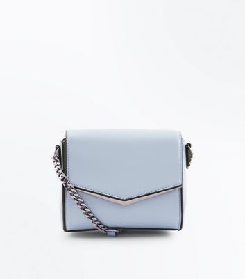 Pale Blue V Front Micro Shoulder Bag