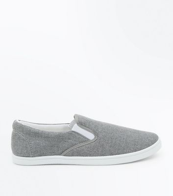Grey Slip On Trainers