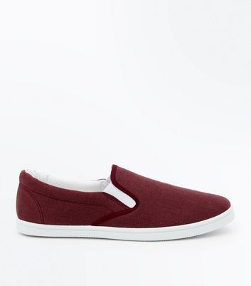 Burgundy Slip On Plimsolls