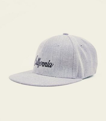 Pale Grey California Embroidered Baseball Cap