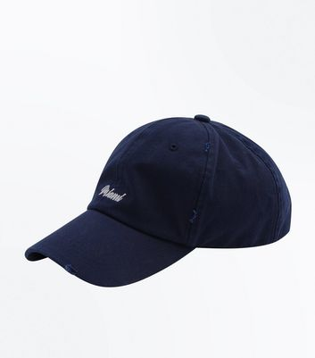 Navy Miami Embroidered Cap