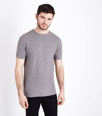 Grey Knitted T-Shirt