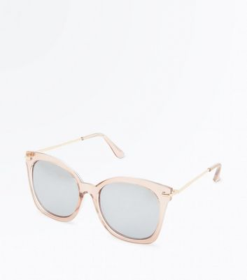 Shell Pink Mirrored Lens Sunglasses