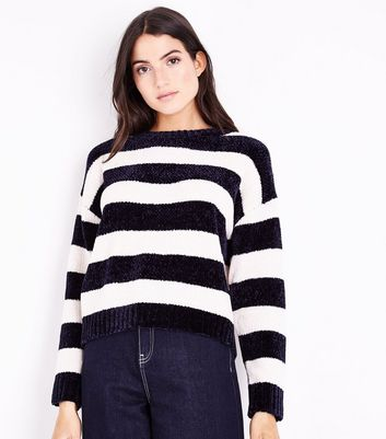 Navy Stripe Chenille Jumper