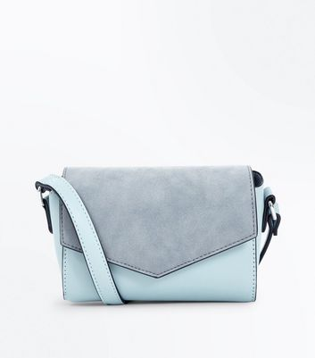 Mint Green Panel Envelope Cross Body Bag