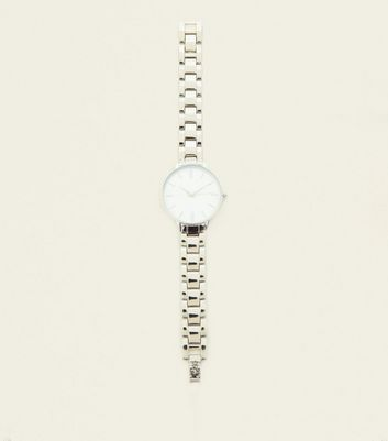 Silver Split Dial Link Watch