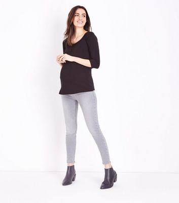 Maternity Grey Under Bump Skinny Jeans