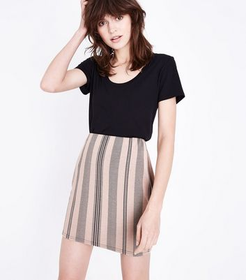 Pink Stripe Jersey Tube Skirt