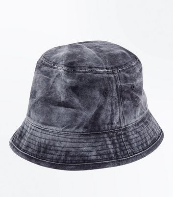 Black Washed Bucket Hat