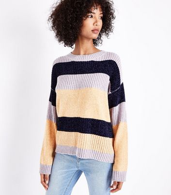 Cameo Rose Blue Stripe Chenille Jumper