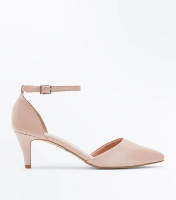 Nude Comfort Flex Patent Ankle Strap Courts