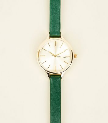 Green Skinny Strap Watch by New Look