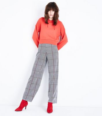 Innocence Black Check Pattern Flared Trousers