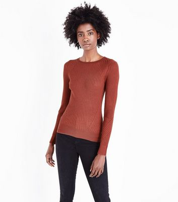 Mink Panelled Rib Jumper